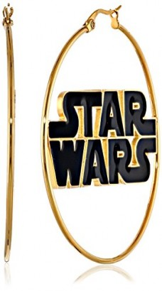 Star-Wars-Jewelry-Logo-Stainless-Steel-Gold-IP-50mm-Hoop-Earrings-0