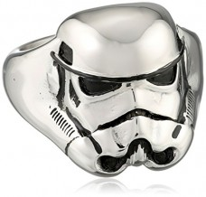 Star-Wars-Jewelry-Mens-3D-Storm-Trooper-Stainless-Steel-Ring-Size-11-0