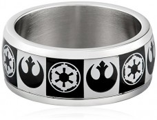 Star-Wars-Jewelry-Mens-Empire-Rebel-Alliance-Logo-Stainless-Steel-Ring-Size-12-0