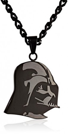 Star-Wars-Jewelry-Unisex-Etched-Darth-Vader-Stainless-Steel-Chain-Pendant-Necklace-0
