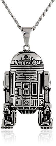 Star-Wars-Jewelry-Unisex-R2D2-Stainless-Steel-Chain-Pendant-Necklace-24-0
