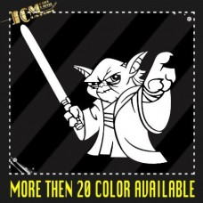 Star-Wars-Master-Yoda-Force-Vinyl-Decal-Sticker-6-X-53-0