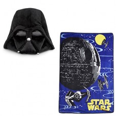 Star-Wars-Oversize-Rebellion-Plush-Throw-Blanket-Large-Darth-Vader-Mask-Plush-Pillow-2-Piece-Set-0