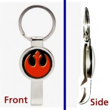 Star-Wars-Rebel-Alliance-emblem-logo-Pennant-or-Keychain-Silver-Tone-Secret-Bottle-Opener-0
