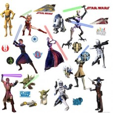Star-Wars-Wall-Stickers-28-pieces-japan-import-0