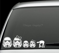 Storm-Trooper-Family-Vinyl-Decal-Window-Stickers-Set-of-5-0