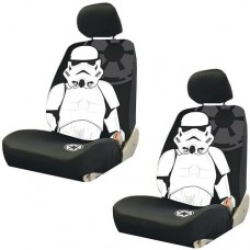 Storm-Trooper-with-Galactic-Empire-Logo-Star-Wars-Car-Truck-SUV-Low-Back-Bucket-Seat-Covers-PAIR-0