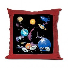 Suede-Throw-Pillow-Red-Solar-System-And-Asteroids-0