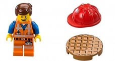 The-LEGO-Movie-Emmet-Minifigure-with-dual-sided-face-red-hard-hat-and-manhole-cover-from-set-70818-0