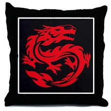 Throw-Pillow-Tribal-Red-Dragon-0