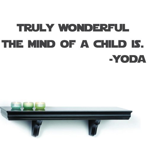 u201cTruly Wonderful the Mind of a Child Isu201d Wall Decal u2013 Actual Yoda quote from Star Wars u2013 removable text wall decal u2013 Star Wars decals for Kids u2013 42u2033 x 12u2033 ...  sc 1 st  On Star Wars & Truly Wonderful the Mind of a Child Isu201d Wall Decal u2013 Actual Yoda ...