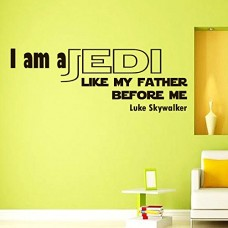 Wall-Vinyl-Decal-Quote-Sticker-Home-Decor-Art-Mural-I-am-a-Jedi-like-my-father-before-me-Star-Wars-Luke-Z305-0