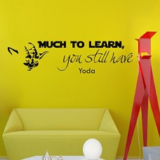 Wall-Vinyl-Decal-Quote-Sticker-Home-Decor-Art-Mural-Much-to-learn-you-still-have-Star-Wars-Yoda-Z304-0