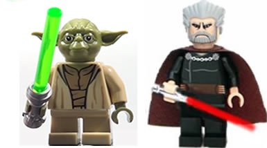 yoda count dooku clone wars lego star wars figures with