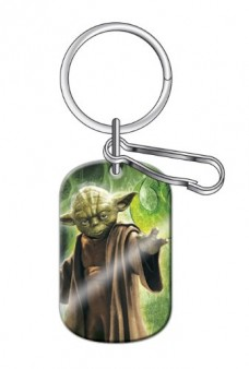 Yoda-Jedi-Master-Star-Wars-Car-Truck-SUV-Dog-Tag-Key-Chain-0