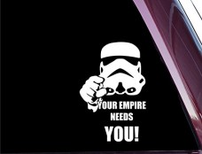 Your-Empire-Needs-YOU-FUNNY-53-X-35-High-Quality-Precision-Cut-Vinyl-Decal-0