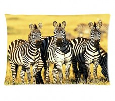 Zebra-Printing-Style-Pillowcase-Cover-20x30-one-side-Cotton-Pillow-Case-0