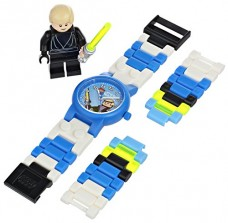 LEGO-Kids-9002892-Star-Wars-Luke-Skywalker-Plastic-Watch-with-Link-Bracelet-and-Figurine-0-2