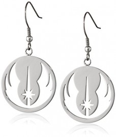 Star-Wars-Jewelry-Jedi-Order-Stainless-Steel-Dangle-Earrings-0