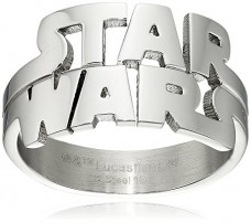 Star-Wars-Jewelry-Mens-Cut-Out-Logo-Stainless-Steel-Ring-Size-9-0