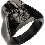 Star-Wars-Jewelry-Mens-Darth-Vader-3D-Stainless-Steel-Black-IP-Ring-Size-11-0
