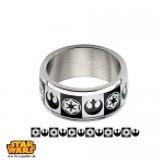 Star-Wars-Jewelry-Mens-Empire-Rebel-Alliance-Logo-Stainless-Steel-Ring-Size-10-0-0