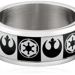 Star-Wars-Jewelry-Mens-Empire-Rebel-Alliance-Logo-Stainless-Steel-Ring-Size-10-0