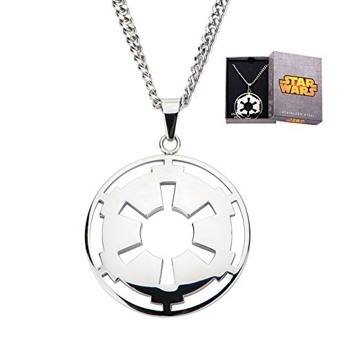 Star-Wars-Jewelry-Mens-Imperial-Cutout-Symbol-Stainless-Steel-Pendant-Necklace-24-0