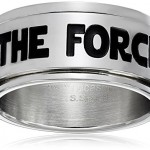Star-Wars-Jewelry-Mens-May-The-Force-Be-with-You-Spinner-Ring-Size-8-0