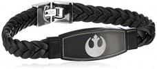 Star-Wars-Jewelry-Mens-Rebel-Symbol-Black-Leather-Bracelet-0