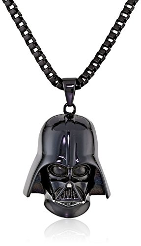 Star-Wars-Jewelry-Unisex-3D-Darth-Vader-Black-Ion-Plated-Stainless-Steel-Pendant-Necklace-24-0