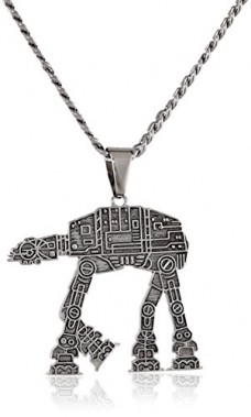 Star-Wars-Jewelry-Unisex-At-At-Walker-Stainless-Steel-Chain-Pendant-Necklace-24-0