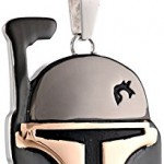 Star-Wars-Jewelry-Unisex-Boba-Fett-Helmet-Stainless-Steel-and-Black-Ion-Plated-Pendant-Necklace-24-0