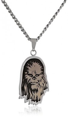 Star-Wars-Jewelry-Unisex-Etched-Chewbacca-Stainless-Steel-Chain-Pendant-Necklace-24-0