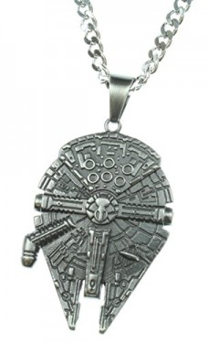 Star-Wars-Jewelry-Unisex-Millennium-Falcon-Stainless-Steel-Chain-Pendant-Necklace-24-0