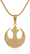Star-Wars-Jewelry-Unisex-Rebel-Alliance-Stainless-Steel-Gold-IP-Small-Chain-Pendant-Necklace-0