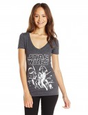 Star-Wars-Juniors-Classic-Poster-Graphic-V-Neck-Tee-Charcoal-Heather-Medium-0