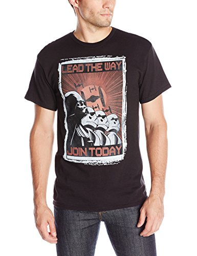 Star-Wars-Mens-Lead-The-Way-Short-Sleeve-T-Shirt-Black-Medium-0