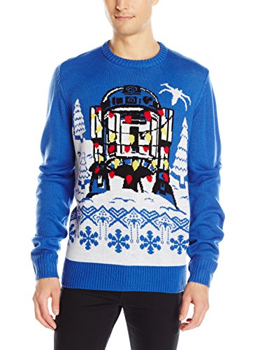 Star-Wars-Mens-R2D2-Gift-Wrap-Sweater-Royal-X-Large-0