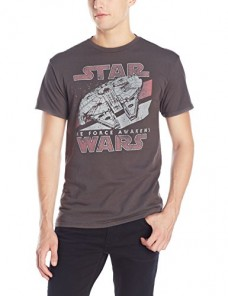 Star-Wars-Mens-The-Force-Awakens-Millenium-Falcon-Vintage-T-ShirtCharcoalX-Large-0