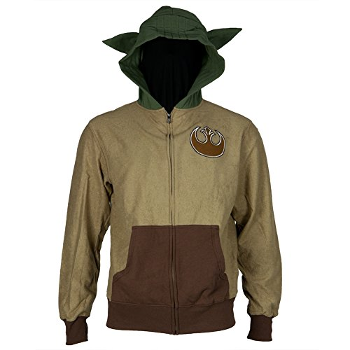Star-Wars-Mens-Yoda-Man-Costume-Hoodie-SandBrownGreen-Large-0
